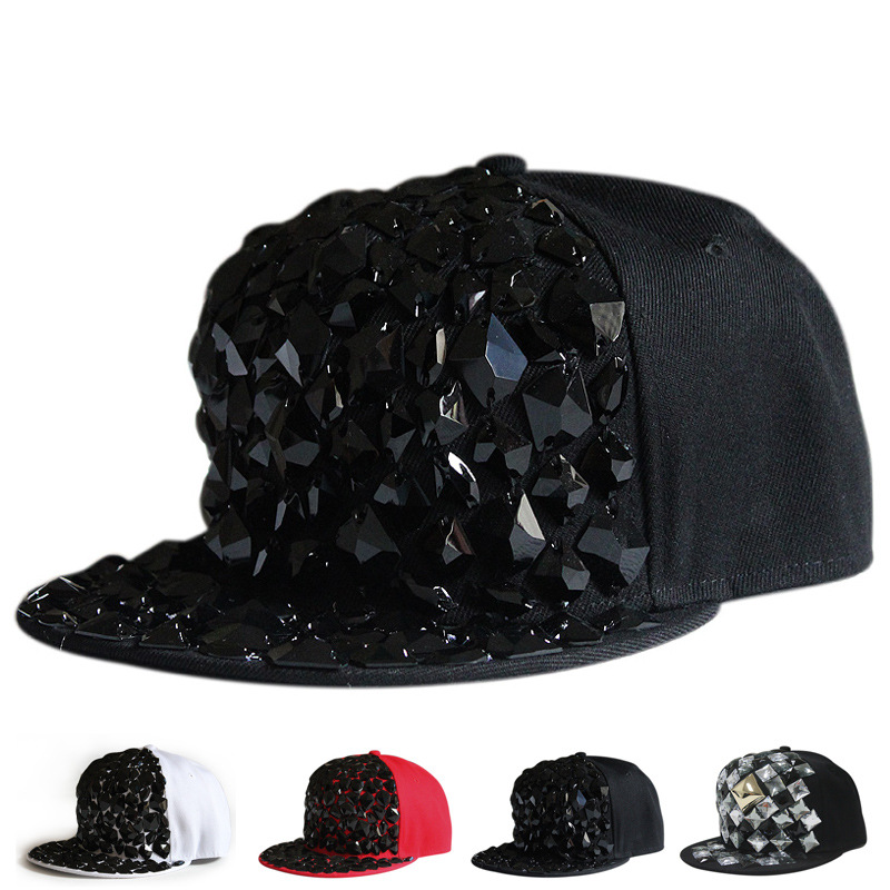 2cffd982958 Get Quotations · 2015 New Baseball Caps Hats For Men Snapback Hats Hip Hop  Cap Boy All black diamond
