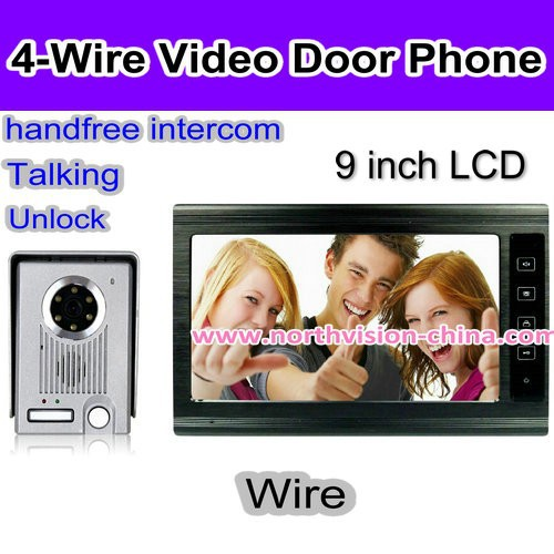 Super! 9 inch entry door camera with motion detection, night vision, hand-free intercom, unlocking