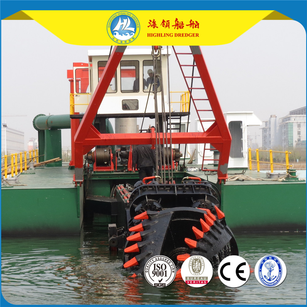 2017 Bangladesh Hydraulic Cutter Suction Used Dredger For Sale
