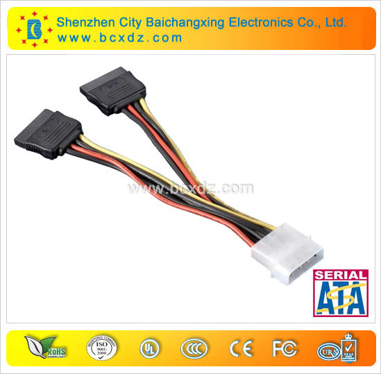red sata hdd splitter cable