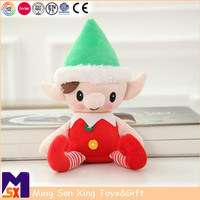 New products 2018 plush soft toy christmas stuffed cute elf plush toys