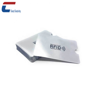 Cheap Price Secure RFID Blocking Plastic Business Card Sleeves