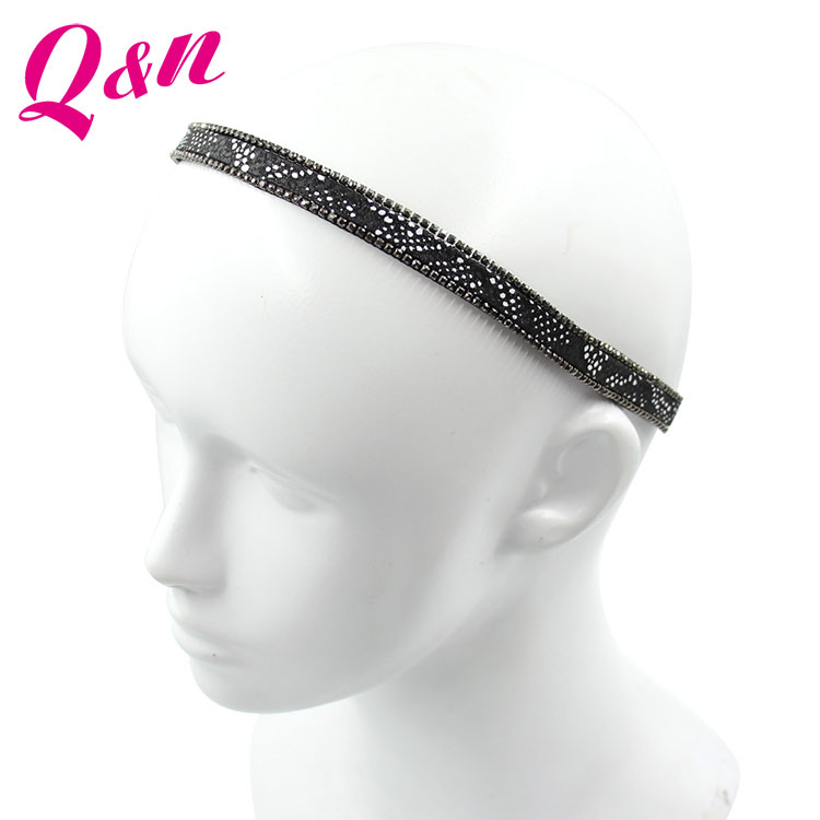Hot Selling High Quality Black Vintage Rhinestone Headband With Great Price
