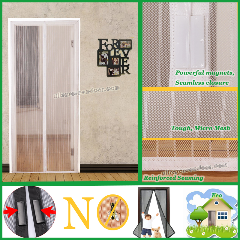 Ultra Screen Door Magnetic Door Screen For Single Doors, Sliding Doors, RVs