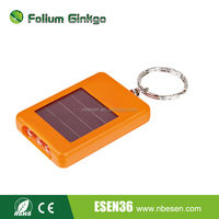 Mini Solar Power Rechargeable 3 LED Flashlight key chain
