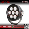 Popular auto offroad 4x4 round 7inch 70w led driving lights for cars