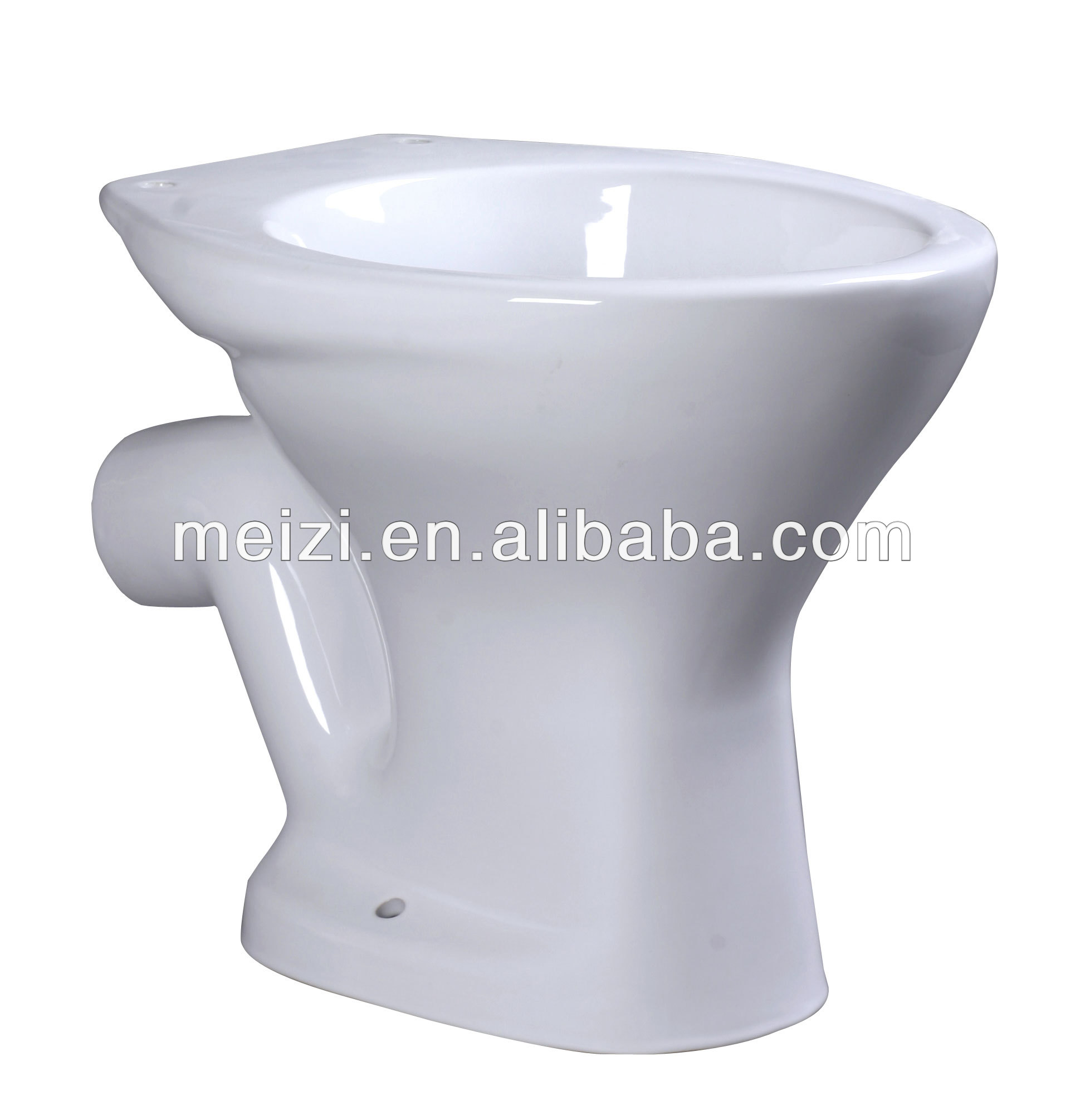Bathroom P-trap ceramic toilet pan