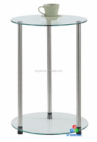 2-tier round glass end table sofa side tables wholesale