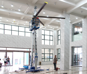 Hvls industrial ceiling fan with positive inverse function