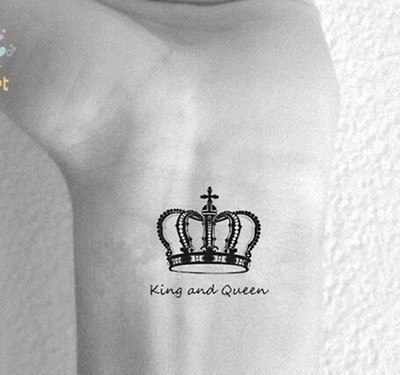 Wholesale Hc130 King Queen Crown Temporary Tattoo Stickers Temporary