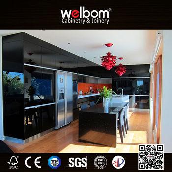 Aluminium kitchen furniture modern buy aluminium kitchen for Model kitchen set aluminium