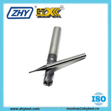 2 flutes hrc 55 coated solid carbide end mill for metal