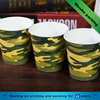 12oz fancy camouflage design custom printing hot drinks stackable paper cups