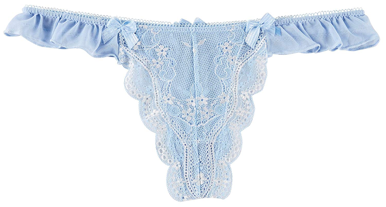 682b99c66f Get Quotations · Bay Studio Something Blue Lace Thong P165329