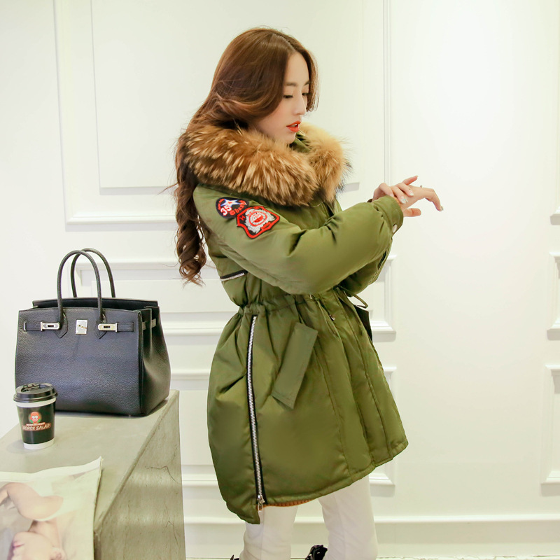 High Quality font b Winter b font Thick Large Raccoon Fur Collar Women Down Coat Women
