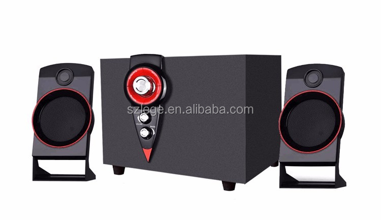 2.1 multimedia subwoofer speaker system for home theater with wireless bluetooth& reasonable price