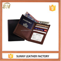 RFID Blocking, Brown Leather Ideal Travel Wallet and Passport Cover
