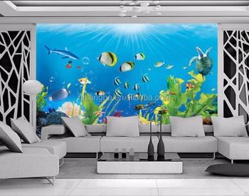 Distribuidores Papel De Pared De Habitación De Los Niños Acuario Mural 3d Estéreo Mundo Submarino Mural Papel Tapiz Buy Mural De