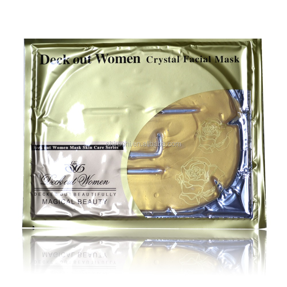 Deck out women crystal facial mask OEM skincare product