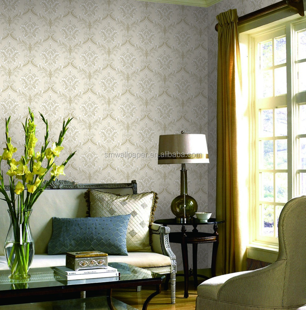 2015 New Design Graceful No-woven Tv Wall Wallpaper For Home Decorations, Flower Wallpaper