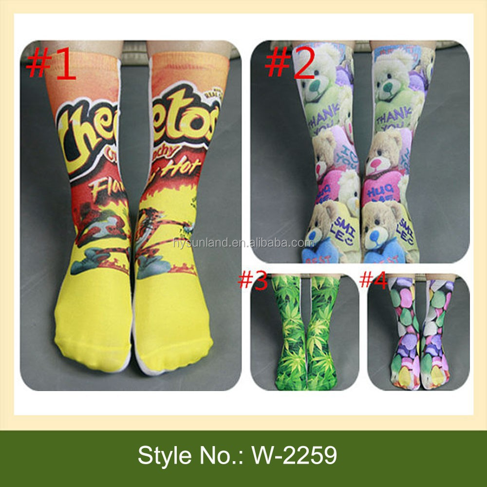 332ed137b869 W-2259 Custom Sublimated Print Crew Socks Adult Crew Tie Dye Sublimated  Socks