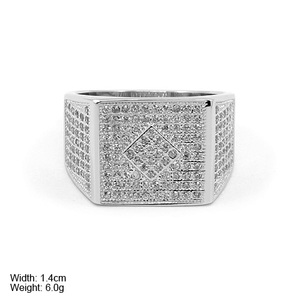 RZQ-0084 big ring chunky men jewelry in silver 925 with many stones