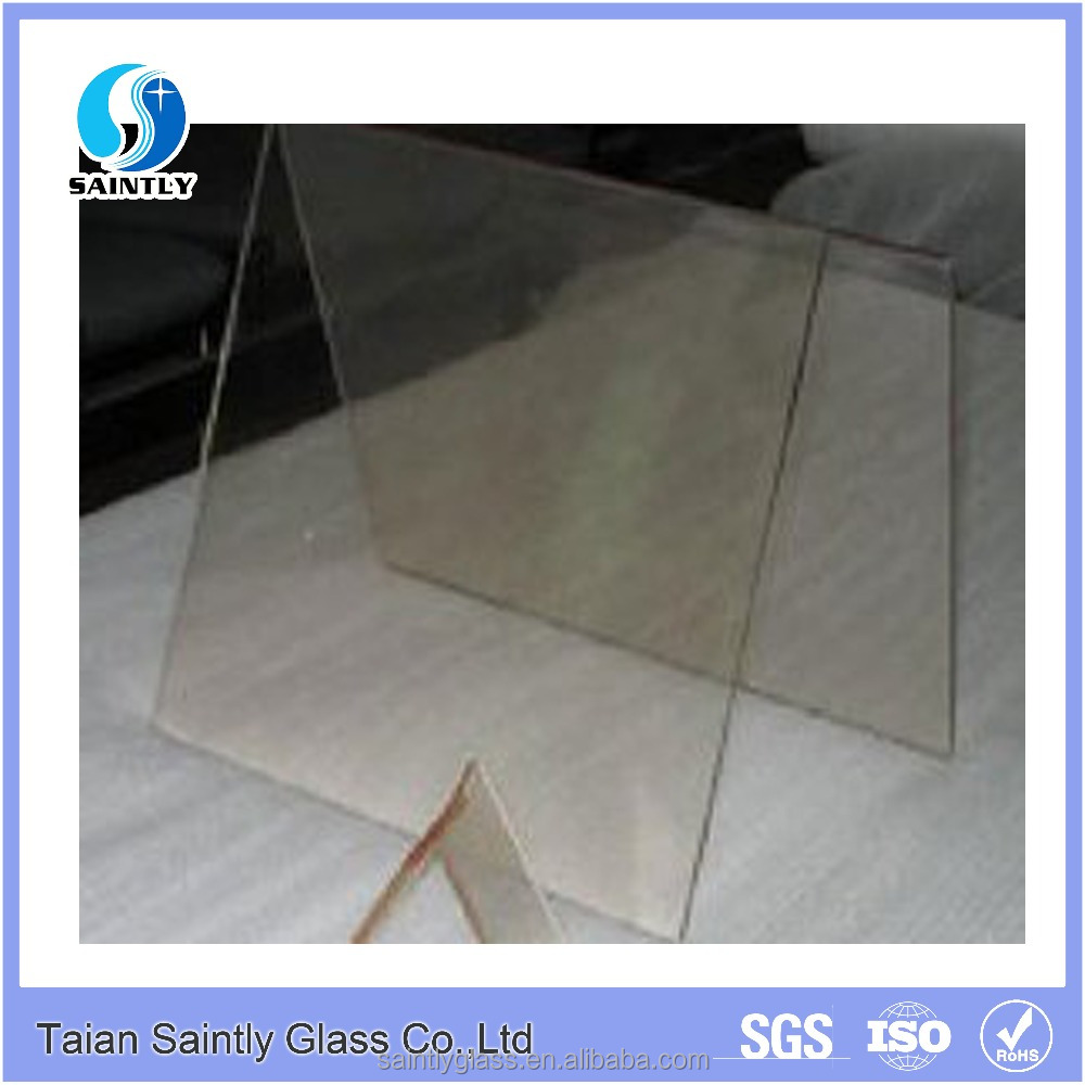 5mm low iron tempered printing glass panel for electric fireplace