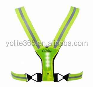 LED Safety Vest Hi Viz Reflex Rubber En13356 Standard