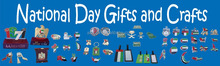 promotional cheap kinds of gifts and crafts for UAE and Saudi Arabia national day