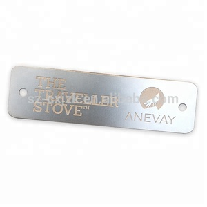 Stainless steel original color engraved metal label name plate