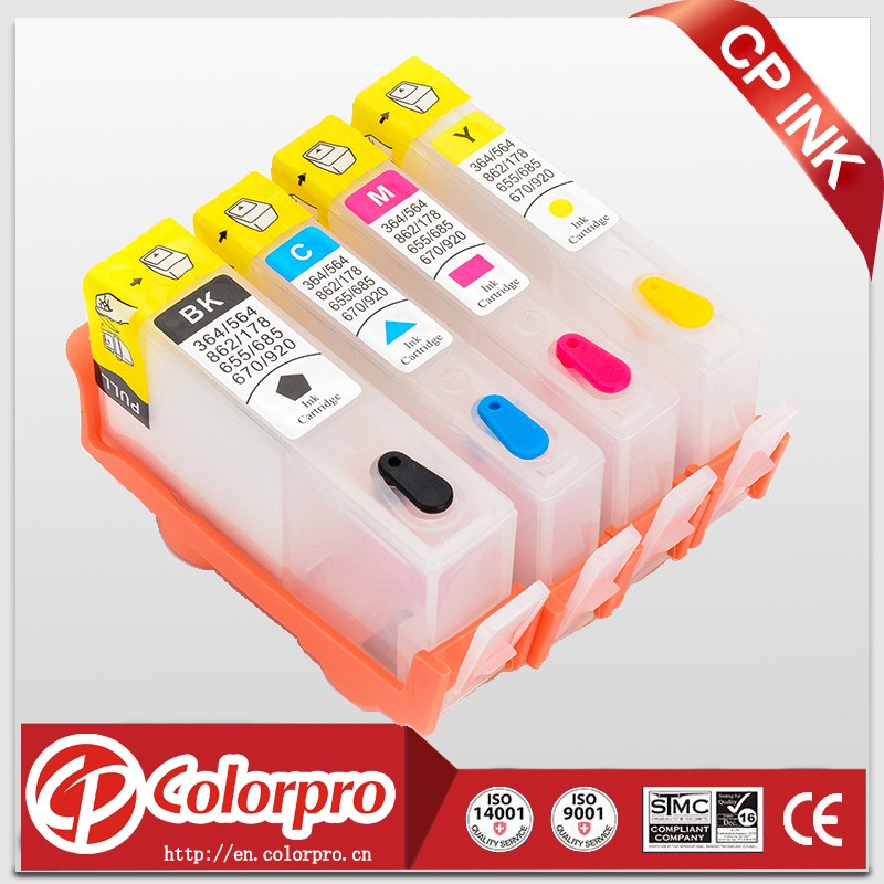 364 for HP Photosmart Premium C309a/n/g-CD743A/ C310a-BCN503B1/ C410b auto rest chip refillable ink cartridge for hp364