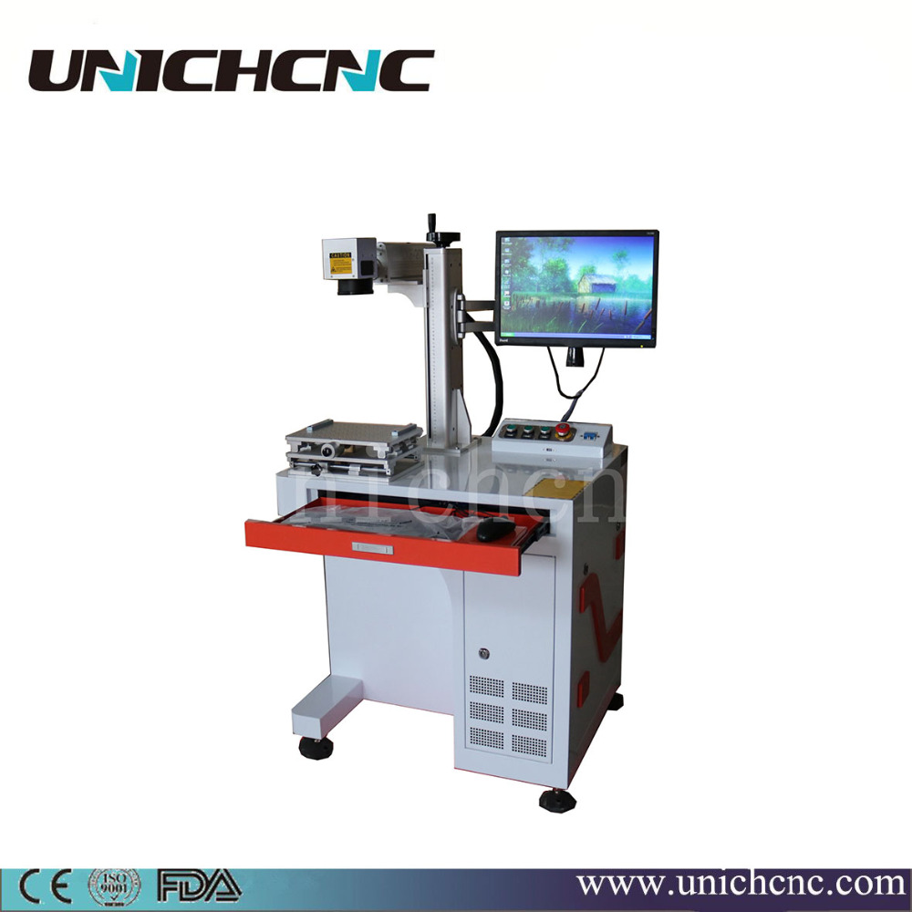 cheap wood mdf metal logo 20w fiber laser marking machine
