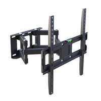 Dual Articulating Arm LCD Stand Tilting Swivel Bracket Full Motion TV Wall Mount for 32-65 Inch