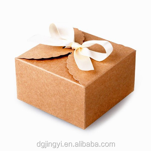 Clear Bow Kraft Paper Packaging Gift Box/brown Kraft Paper Box ...