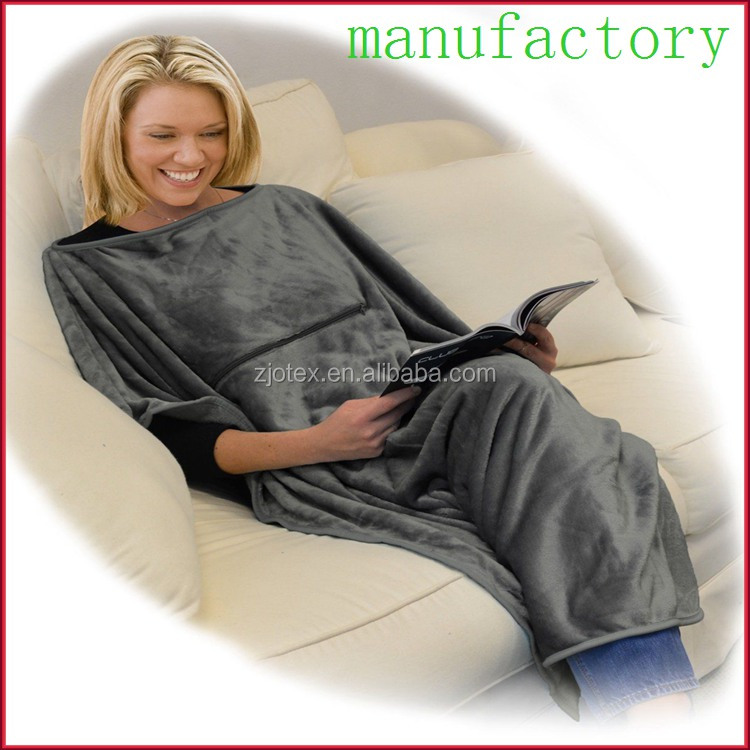 4-in-1 Travel Blanket super soft plush Fleece Poncho Wearable Throw blanket