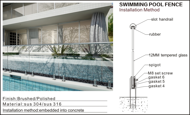 Swimming Pool Safety Fenceglass Fencing Priceplexiglass Fence
