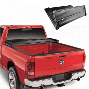 Ksc Auto 2018 Hot Sell Folding Tonneau Cover Soft Tri Fold Pickup Truck Bed Cover For Chevrolet Silverado 2007-2013 6.5 Ft Bed