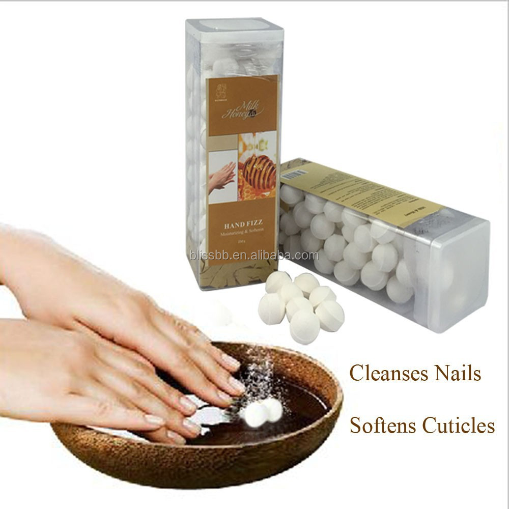 Hand Fizz Balls Spa Nail Bowl Used Clean Disinfection Soften Cuticle Effect Milk & Honey 250g Nail Art Display Manicure Tools