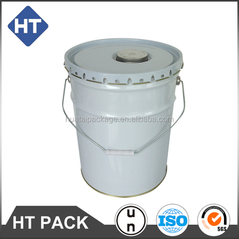 20L metal pail for plastic printing ink, 20 liter tinplate bucket for flex ink with metal screw lid, UN rated