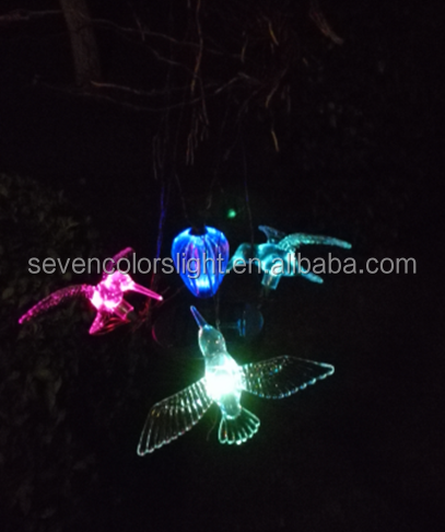 SCL0093 garden decorative hummingbird solar hanging rope lights