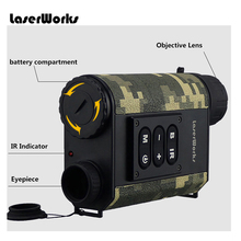 LRNV009 6x magnification visible night vision 200m range finder 500m Night Vision Monocular Telescope
