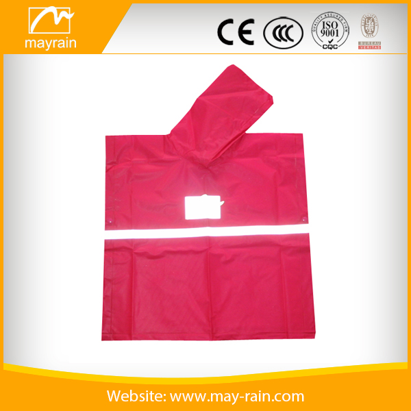 Children 100% waterproof rain poncho PVC Rain cape with reflector