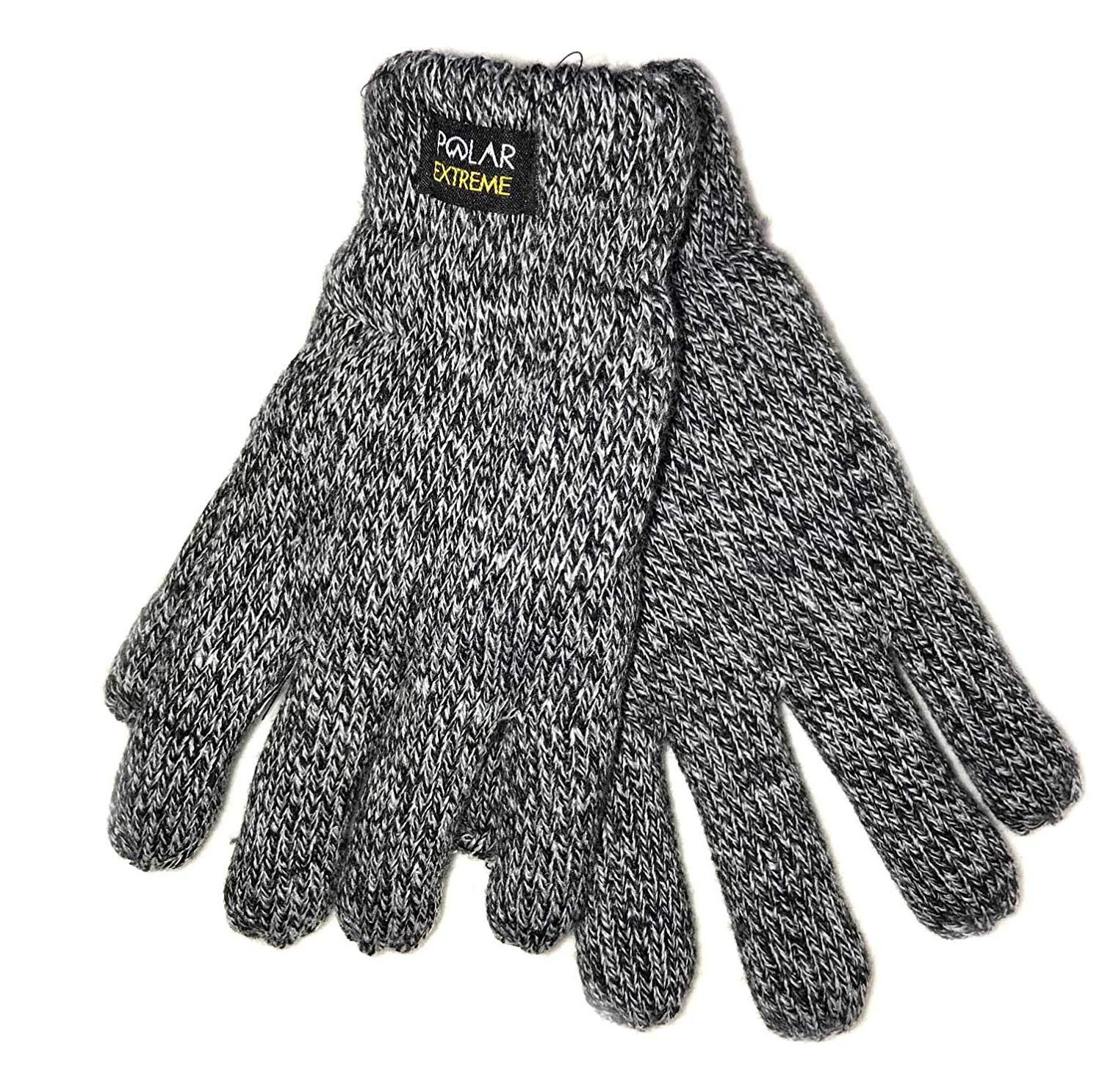 449305f29263e Get Quotations · Polar Extreme Mens Heat Knit Gloves Winter Glove