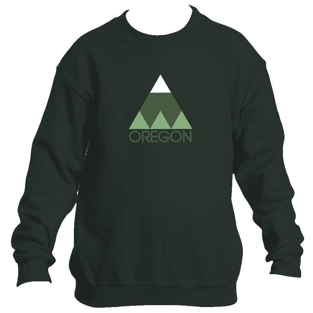 Minimal Mountain - Oregon Youth Fleece Crew Sweatshirt - Unisex
