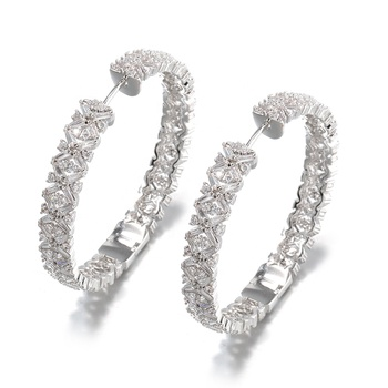Vantage Hoop Earrings Pernikahan Perhiasan Anting-Anting Acara Khusus
