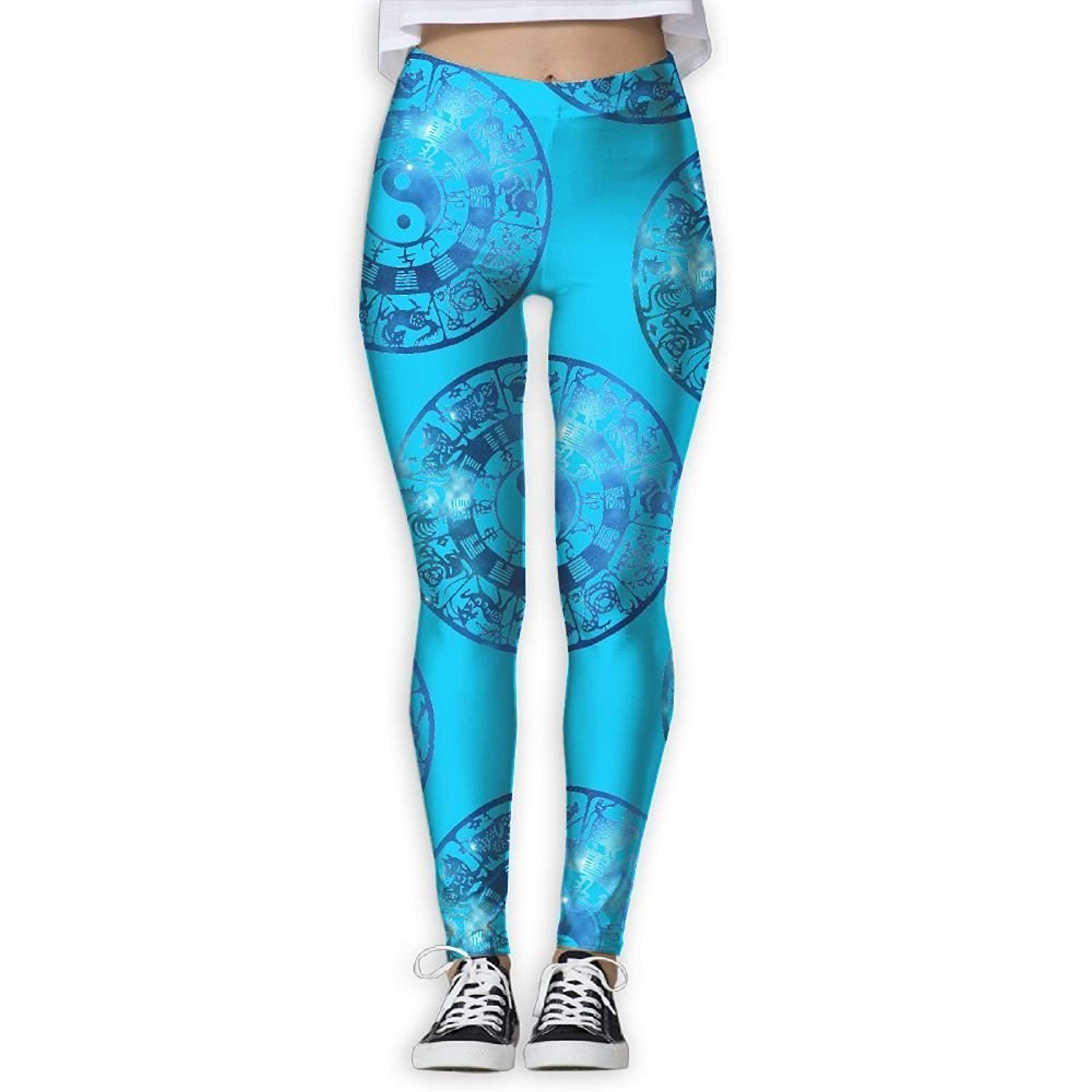 f33112a4f0f153 Get Quotations · Sodika Trout Fish Jumping Womens Printed Design Legging  Workout Legging Yoga Pant