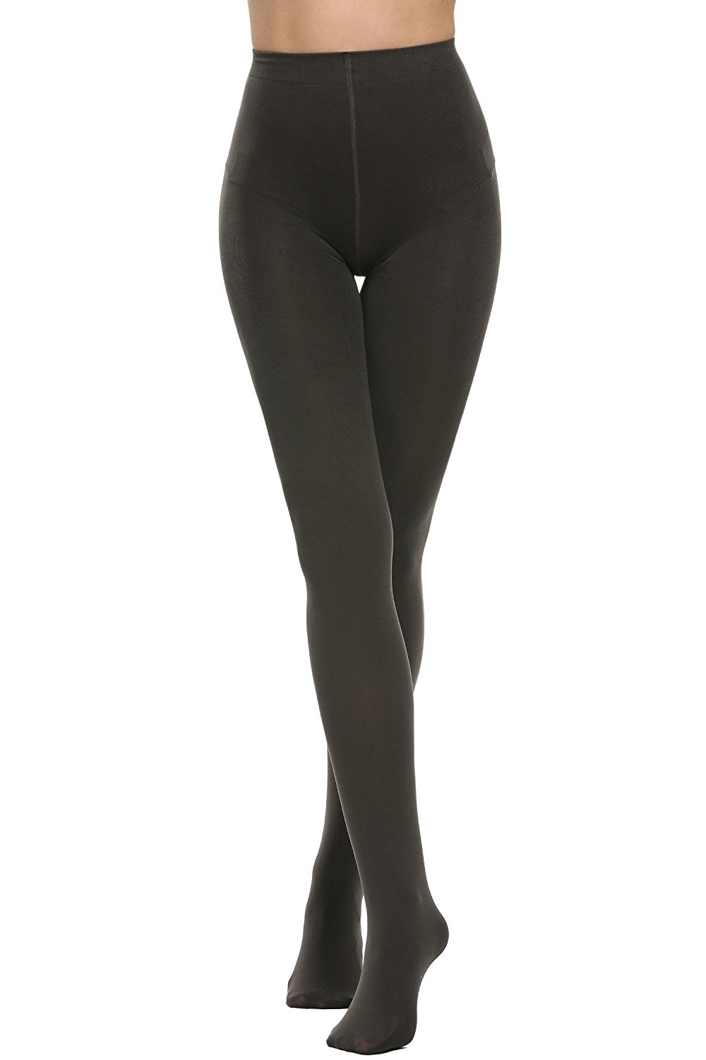 129ac0d12 Get Quotations · PEATAO 600 Denier Tights opaque tights black lady women  hosiery Opaque Footed Leg Warmers