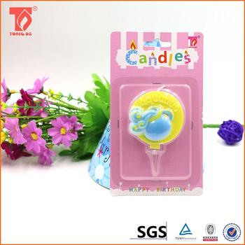 Lotus Candles For Birthday Cakes Blue Candle Real Flower Shape