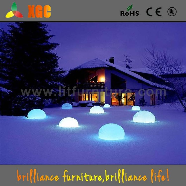 Glowing Outdoor Disco Ball Party