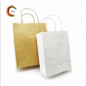 Wholesale custom shopping bag paper with handle